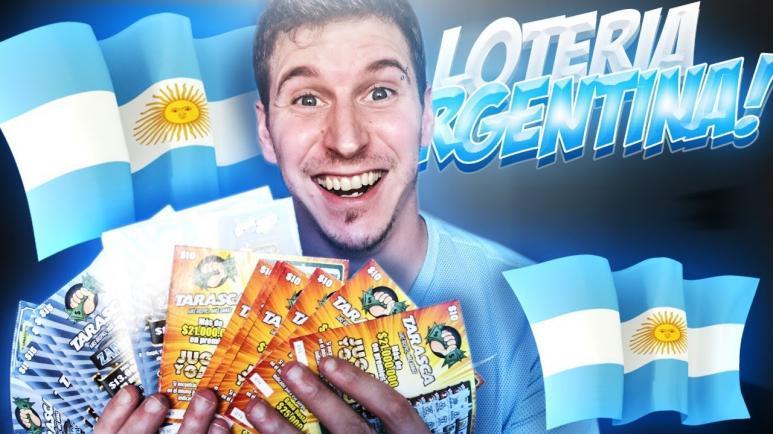 Loteria nacional argentina. jugador, loteria, bandera argentina